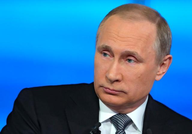 Na snímke ruský prezident Vladimir Putin Foto:TASR-Mikhail Klimentyev/Sputnik, Kremlin Pool Photo via AP