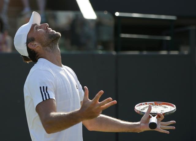 Na snímke chorvátsky tenista Ivo Karlovič