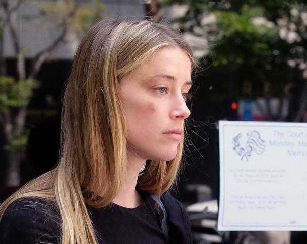 Na snímke herečka Amber Heardová