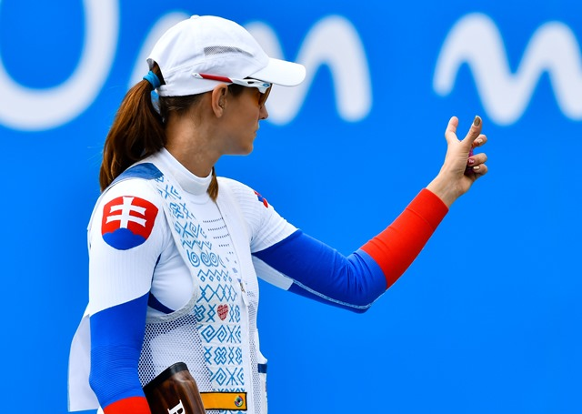 Na snímke slovenská skeetarka Danka Barteková počas kvalifikácie