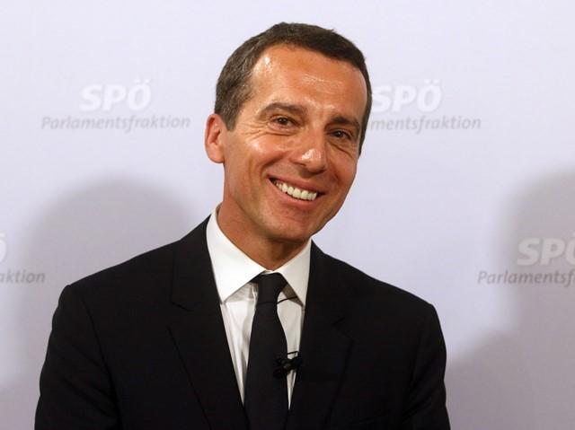 Na snímke rakúsky kancelár Christian Kern