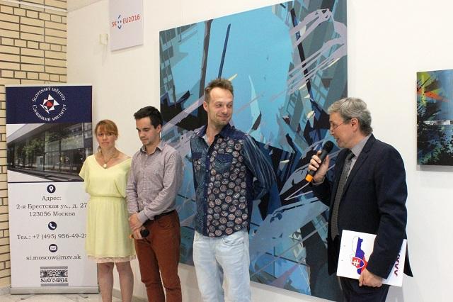 Mladý slovenský maliar Peter Cvik vystavuje v Moskve