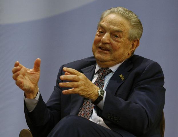 Na snímke miliardár a finančník George Soros