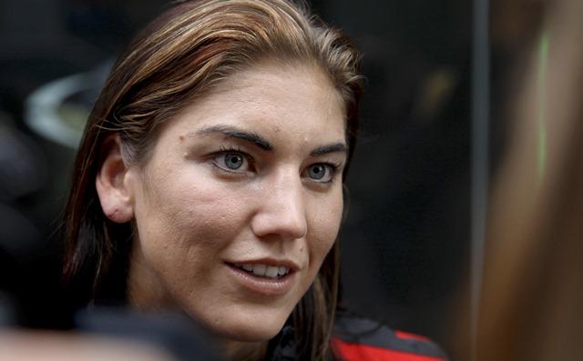 Na snímke brankárka americkej ženskej futbalovej reprezentácie Hope Solová