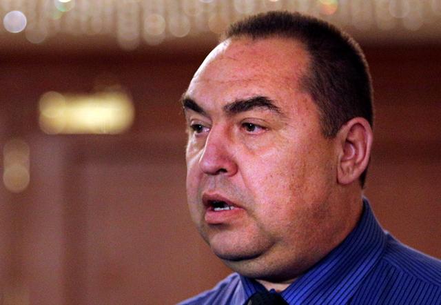 Na snímke vodca samozvanej Luhanskej ľudovej republiky (LĽR) na východe Ukrajiny Igor Plotnický