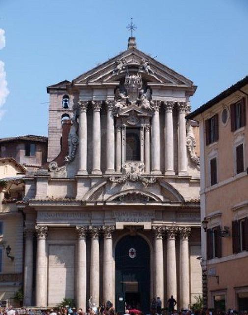 Kostol sv. Vincenta a Anastázie v Ríme, kde sú uložené pozostatky sv. Vincenta