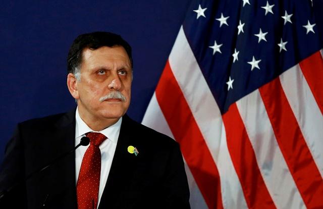 Na snímke šéf líbyjskej novej vlády jednoty Fájiz Sarrádž