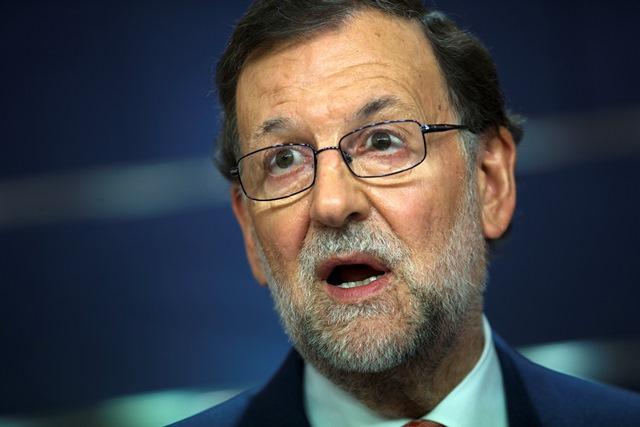 Na snímke úradujúci španielsky premiér Mariano Rajoy