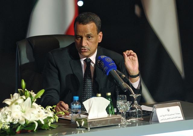 Na snímke osobitný vyslanec OSN pre Jemen Ismáíl wuld Šajch Ahmad