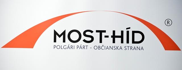 Na snímke nové logo politickej strany Most-Híd
