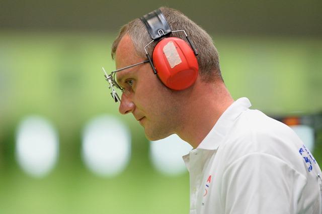 Na snímke pištoliar Pavol Kopp