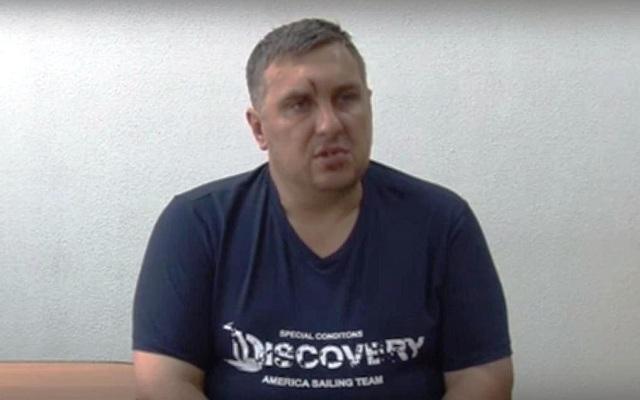 Na snímke výsluch ukrajinského diverzanta /na snímke/ s jeho priznaniami