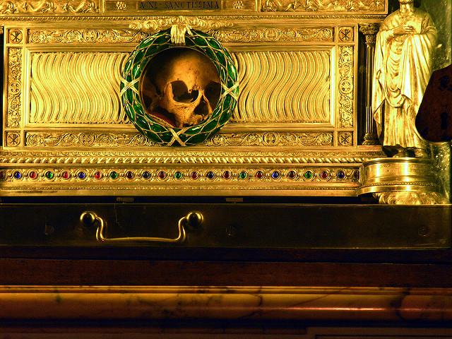 Relikviár Sv. Anežky v Ríme