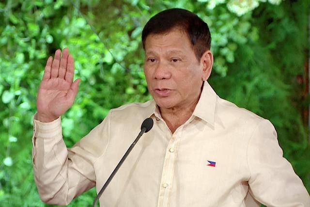 Na snímke filipínsky prezident Rodrigo Duterte