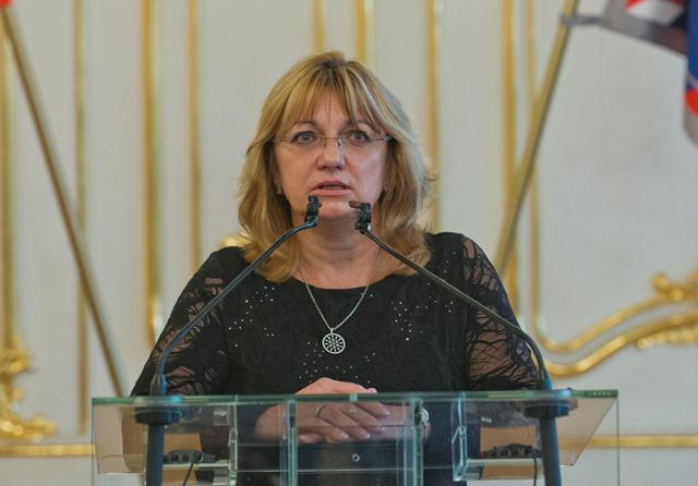 Na snímke šéfka Súdnej rady SR Jana Bajánková