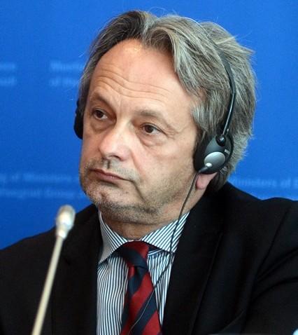 Na snímke  štátny tajomník Ministerstva obrany Maďarska  Tamás Vargha