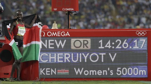 enská atlétka Vivian Cheruiyotová sa stala novou olympijskou šampiónkou v behu na 5000 m v novom olympijskom rekorde 14:26,18 min na OH v Riu de Janeiro