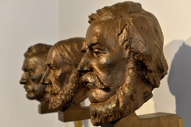Na snímke busty (zľava) Michal Miloslav Hodža, Jozef Miloslav Hurban a Ľudovít Štúr
