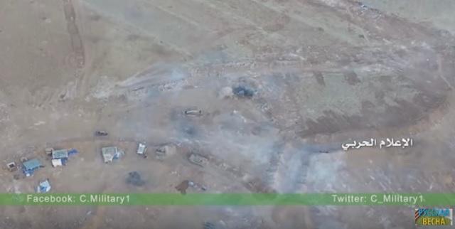 Na snímke z videa zábery dronu počas útoku