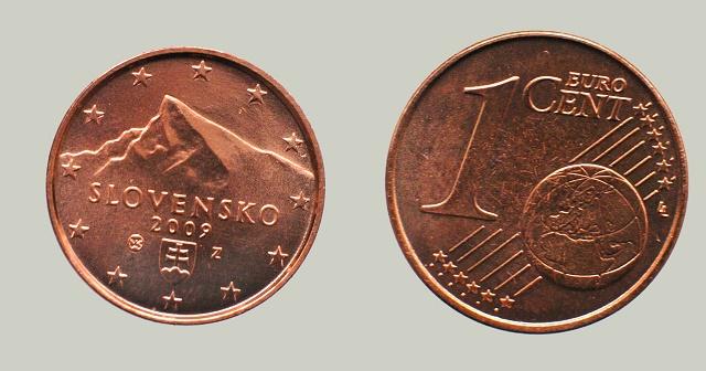 Rub a líce jednocentovej mince
