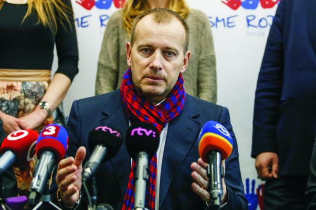 Na snímke Boris Kollár ako predseda strany Sme rodina Foto: Branislav Račko