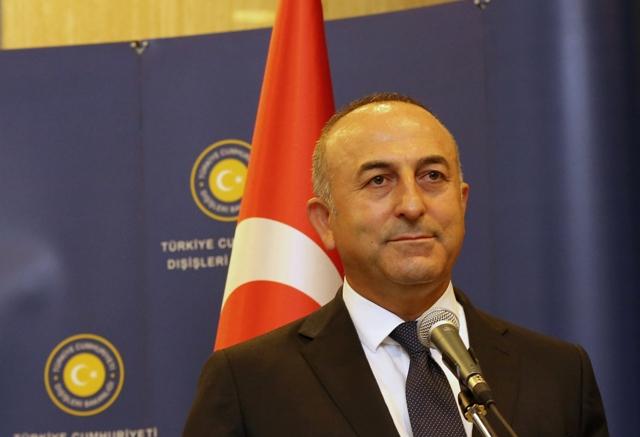 Na snímke turecký minister zahraničných vecí Mevlüt Čavušoglu