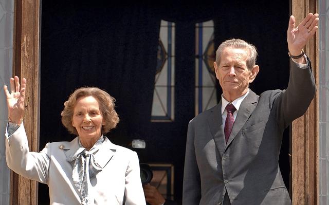 Na snímke bývalý rumunský kráľ Michal a jeho manželka Ana