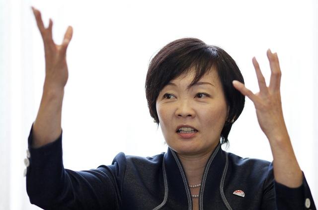 Na archívnej snímke zo 4. septembra 2014 manželka japonského premiéra Šinzóa Abeho