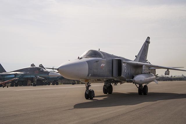 Na snímke ruská nadzvuková stíhačka SU-24