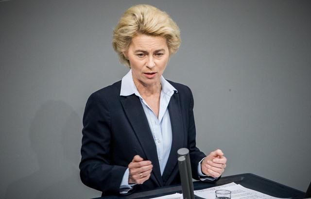 Na snímke nemecká ministerka obrany Ursula von der Leyenová