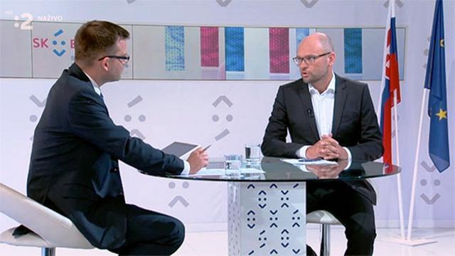 Richard Sulík (na snímke vpravo) bol hosťom relácie Predsedníctvo SR v Rade Európskej únie