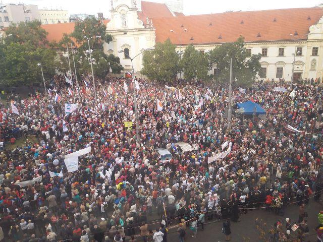 Snímka z Národného pochodu za život 2015