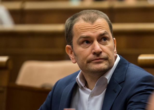 Na snímke poslanec parlamentu a predseda hnutia OĽaNO-NOVA Igor Matovič