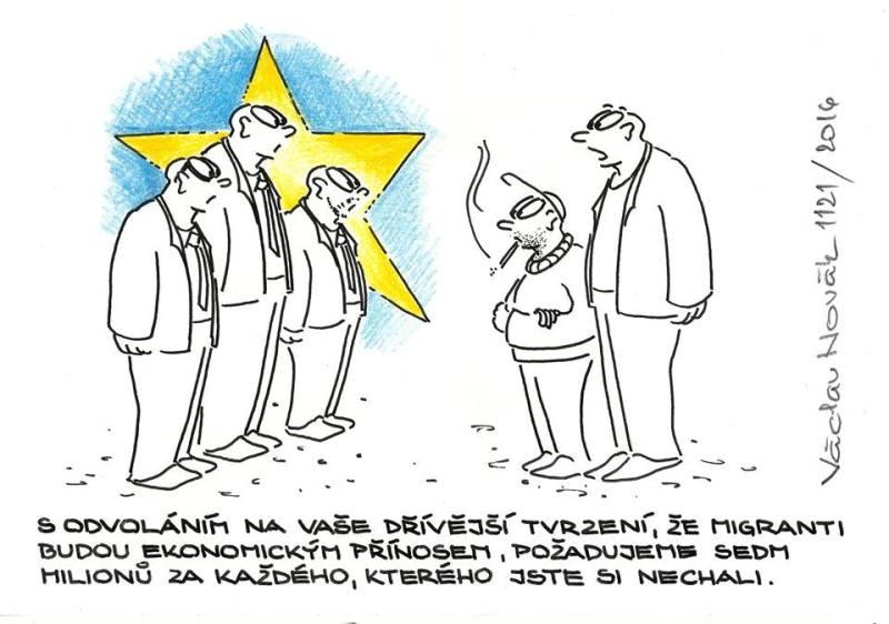 Karikatúra Václava Nováka
