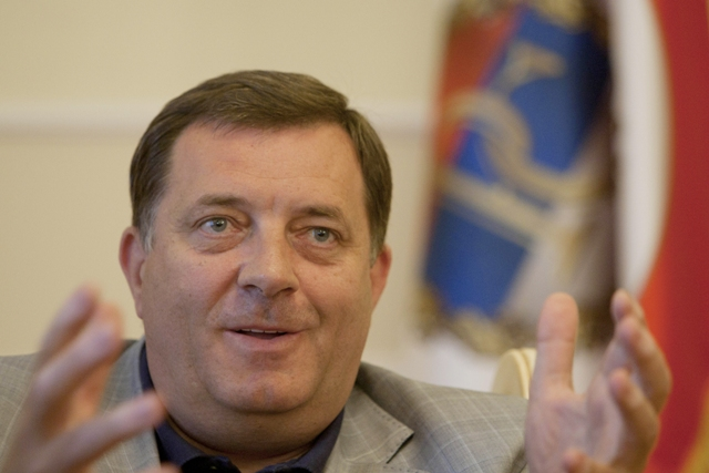 Na snímke Milorad Dodik, prezident Republiky Srbskej (RS)