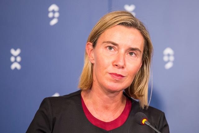 Na snímke vysoká predstaviteľka EÚ pre zahraničné veci a bezpečnostnú politiku a podpredsedníčka Európskej komisie Federica Mogheriniová