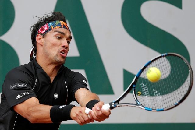 Na snímke taliansky tenista Fabio Fognini
