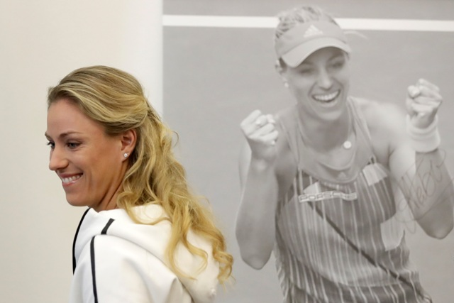 Na snímke svetová jednotka ženského tenisového svetového rebríčka WTA Angelique Kerberová