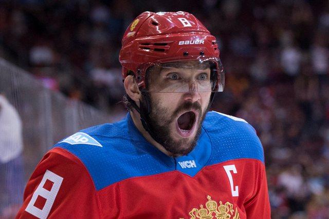 Na snímke ruský hráč Alexander Ovečkin