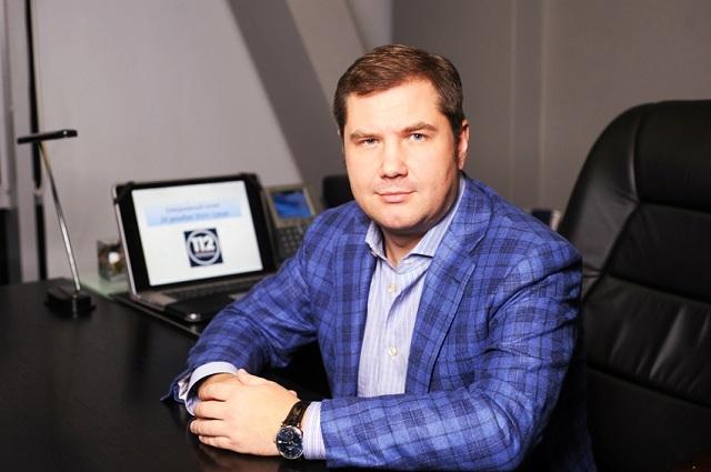 Na archívnej snímke majiteľ najpopulárnejšej ukrajinskej televíznej stanice 112 Ukrajina Andrej Podščipkov