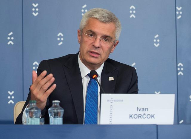 Na snímke splnomocnenec vlády SR pre predsedníctvo SR v Rade EÚ Ivan Korčok