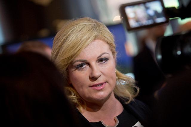 Chorvátska prezidentka Kolinda Grabarová Kitarovičová