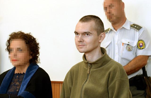 Na snímke Ladislav K. počas vynesenia rozsudku