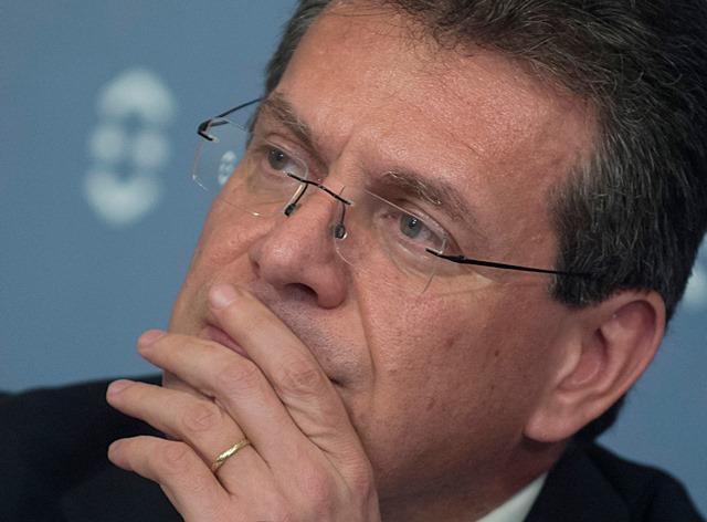 Na snímke podpredseda Európskej komisie zodpovedného za Energetickú úniu Maroš Šefčovič