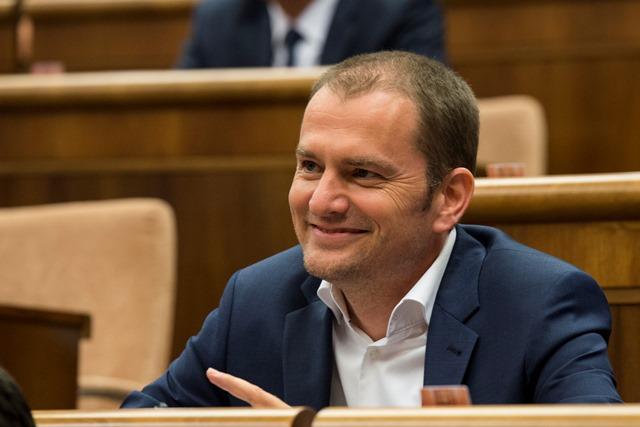Na snímke poslanec a  šéf hnutia OĽaNO-NOVA Igor Matovič