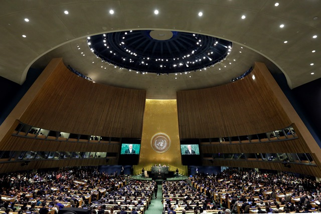 Na snímke Valné zhromaždenie OSN
