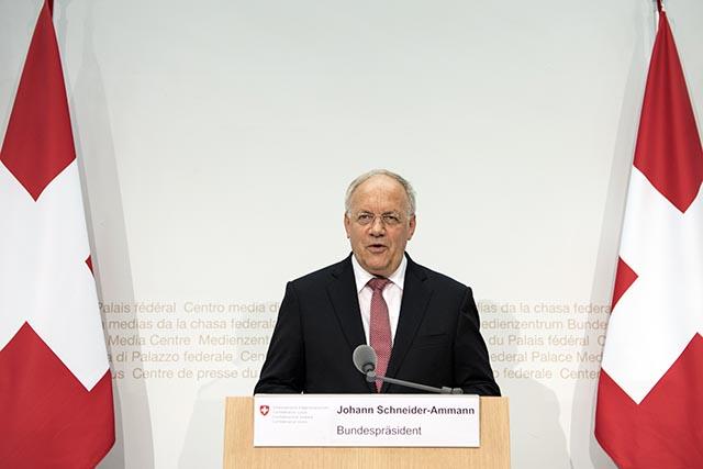 Prezident Švajčiarskej konfederácie Johann N. Schneider-Ammann