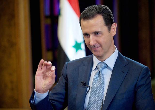 Na snímke sýrsky prezident Bašár Assad