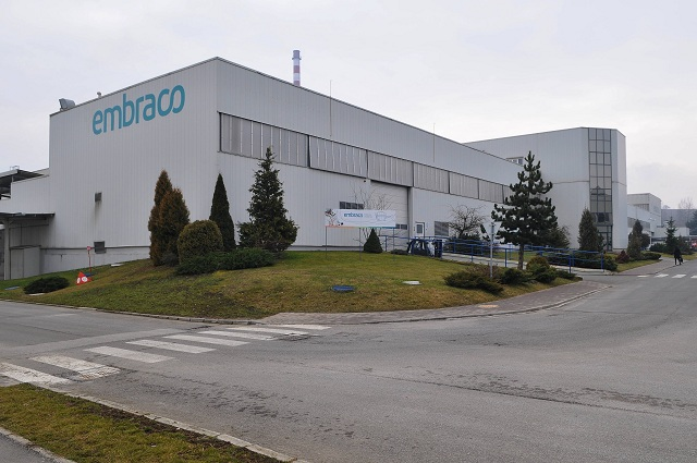 Na snímke jedna z výrobných hál závodu na výrobu kompresorov Embraco Slovakia
