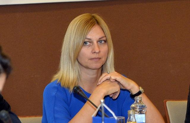 Na archívnej snímke generálna riaditeľka kancelárie ministra vnútra Dušana Višňovská.